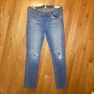Barely worn, destroyed rag & bone jeans